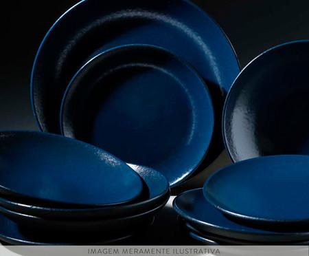 Jogo de Pratos para Sobremesa Coup Stoneware Azure 06 Pessoas - Azul | WestwingNow