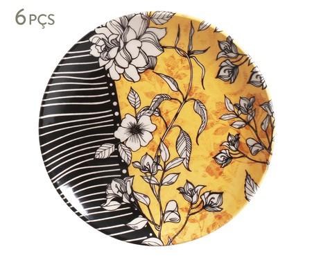 Jogo de Pratos para Sobremesa em Cerâmica Coup Nouveau 06 Pessoas - Colorido | WestwingNow