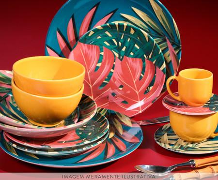 Jogo de Pratos para Sobremesa em Cerâmica Coup Sumatra 06 Pessoas - Vermelho | WestwingNow