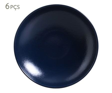 Jogo de Pratos Fundos Coup Stoneware Azure - 06 Pessoas   WestwingNow