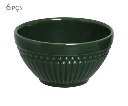 Jogo de Bowls em Cerâmica Roma Botânico 06 Pessoas - Verde, Verde   WestwingNow