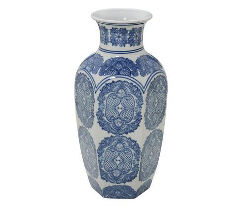 Vaso em Porcelana Jael - Azul e Branco, Branco, Azul | WestwingNow