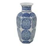 Vaso em Porcelana Jael - Azul e Branco | WestwingNow