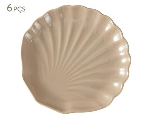 Jogo de Pratos para Sobremesa Ocean Noz Moscada Panelinha - 06 Pessoas, Rosa | WestwingNow