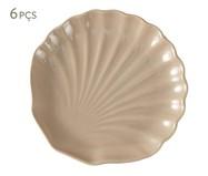 Jogo de Pratos para Sobremesa Ocean Noz Moscada Panelinha - 06 Pessoas | WestwingNow