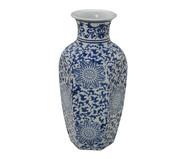 Vaso em Porcelana Ahava - Azul e Branco | WestwingNow