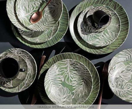 Jogo de Pratos para Sobremesa em Cerâmica Coup Herbarium - Verde | WestwingNow