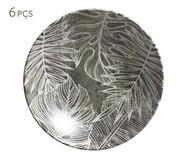Jogo de Pratos Fundos em Cerâmica Coup Herbarium 06 Pessoas - Verde e Branco | WestwingNow