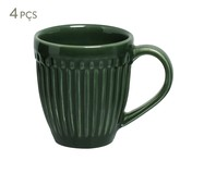 Jogo de Canecas em Cerâmica Roma Botânico 04 Pessoas - Verde | WestwingNow