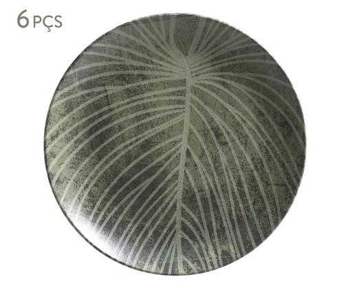 Jogo de Pratos Rasos em Cerâmica Coup Herbarium 06 Pessoas - Verde e Branco, Verde   WestwingNow