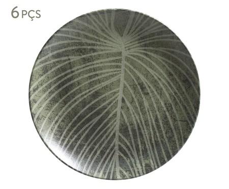 Jogo de Pratos Rasos em Cerâmica Coup Herbarium - Verde | WestwingNow