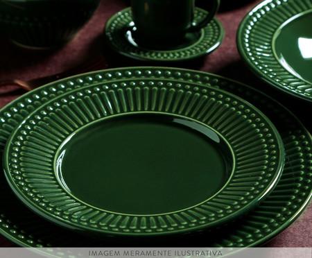 Jogo de Pratos para Sobremesa em Cerâmica Roma Botânico - Verde | WestwingNow