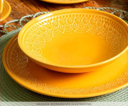 Jogo de Pratos para Sobremesa Agra - Mostarda | WestwingNow