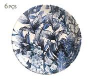 Jogo de Pratos para Sobremesa em Cerâmica Coup Blue Garden 06 Pessoas - Azul | WestwingNow