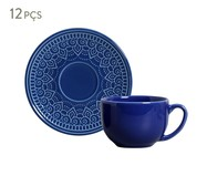 Jogo de Xícaras para Chá  Agra Azul Navy - 06 Pessoas | WestwingNow