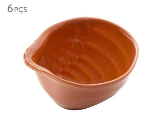 Jogo de Bowls em Cerâmica Ocean Canela - Laranja, Laranja | WestwingNow