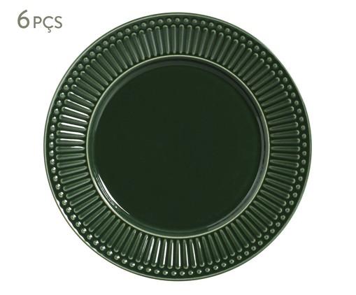 Jogo de Pratos Rasos em Cerâmica Roma Botânico - Verde, Verde   WestwingNow