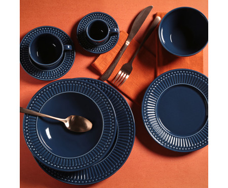 Jogo de Xícaras para Café em Cerâmica Roma Deep - Azul   WestwingNow