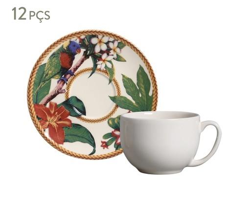 Jogo de Xícaras para Chá em Cerâmica Coup Amazônia 06 Pessoas - Multicolorido, Colorido   WestwingNow