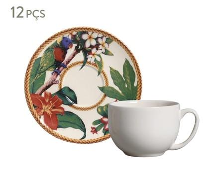Jogo de Xícaras para Chá em Cerâmica Coup Amazônia - Colorido | WestwingNow