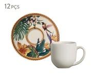 Jogo de Xícaras para Café em Cerâmica Coup Amazônia - Colorido   WestwingNow