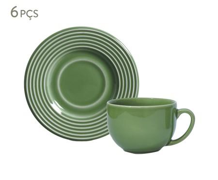 Jogo de Xícaras para Chá  Argos Verde Sálvia - 06 Pessoas | WestwingNow