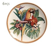 Jogo de Pratos para Sobremesa em Cerâmica Coup Amazônia 06 Pessoas - Colorido | WestwingNow
