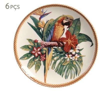 Jogo de Pratos para Sobremesa em Cerâmica Coup Amazônia - 06 Pessoas | WestwingNow