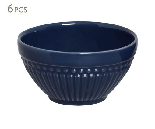 Jogo de Bowls em Cerâmica Roma Deep Blue 06 Pessoas - Azul, Azul | WestwingNow