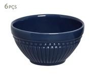 Jogo de Bowls em Cerâmica Roma Deep Blue 06 Pessoas - Azul | WestwingNow