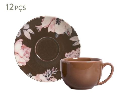 Jogo de Xícaras para Chá em Cerâmica Coup Bonjour 06 Pessoas - Marrom, Marrom | WestwingNow