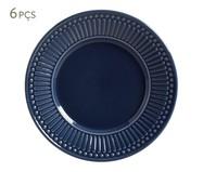 Jogo de Pratos para Sobremesa em Cerâmica Roma Deep Blue 06 Pessoas - Azul | WestwingNow