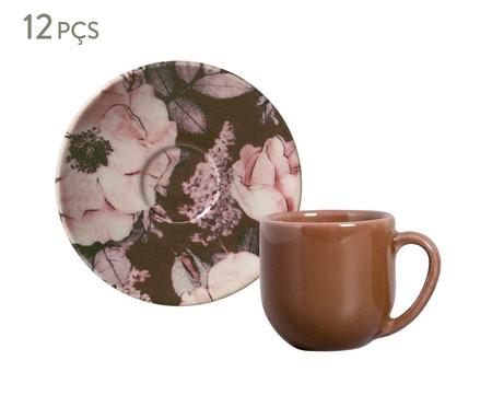 Jogo de Xícaras para Café em Cerâmica Coup Bonjour 06 Pessoas - Marrom   WestwingNow