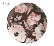 Jogo de Pratos para Sobremesa em Cerâmica Coup Bonjour 06 Pessoas - Colorido | WestwingNow