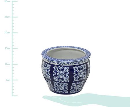 Cachepot em Porcelana Malka - Azul e Branco | WestwingNow