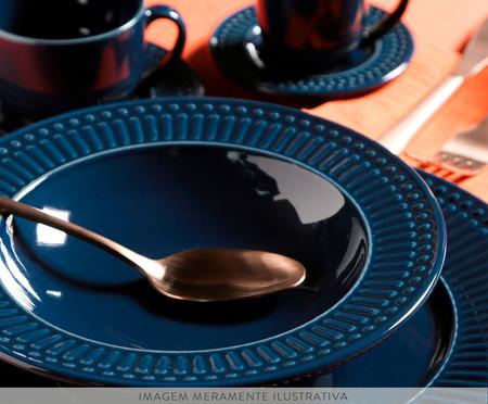 Jogo de Pratos Fundos em Cerâmica Roma Deep - Azul | WestwingNow