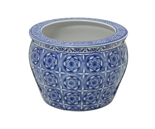 Cachepot em Porcelana Linda - Azul e Branco, Branco, Azul | WestwingNow