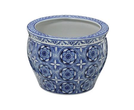 Cachepot em Porcelana Linda - Azul e Branco | WestwingNow