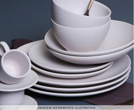 Jogo de Pratos para Sobremesa em Cerâmica Stoneware Haya - Cru | WestwingNow