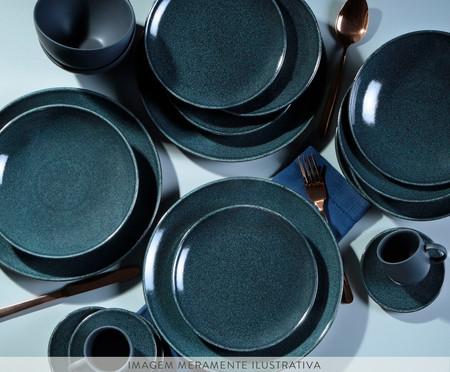 Jogo de Pratos Fundos em Cerâmica Stoneware Orion 06 Pessoas - Azul | WestwingNow