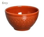 Jogo de Bowls Agra Cantaloupe - 06 Pessoas   WestwingNow