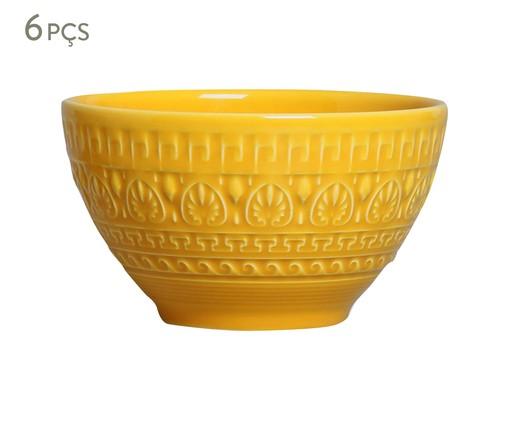 Jogo de Bowls Greek Mostarda - 06 Pessoas, Amarelo | WestwingNow
