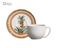 Jogo de Xícaras para Chá Coup Pineapple Natural - 06 Pessoas | WestwingNow