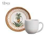 Jogo de Xícaras para Café em Cerâmica Coup Pineapple Natural - Colorido   WestwingNow
