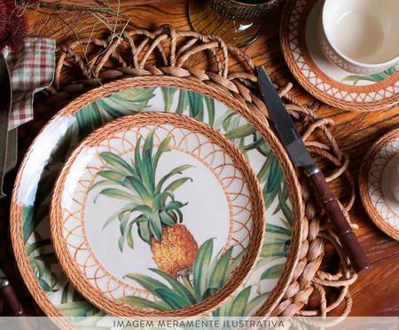 Jogo de Pratos para Sobremesa em Cerâmica Coup Pineapple - Colorido | WestwingNow
