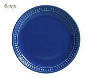 Jogo de Pratos para Sobremesa Sevilha Azul Navy - 06 Pessoas | WestwingNow