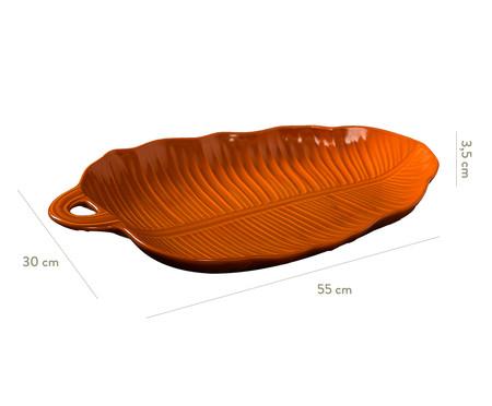 Travessa em Cerâmica Leaves Canela - Laranja   WestwingNow
