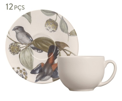 Jogo de Xícaras para Chá em Cerâmica Coup La Vie 06 Pessoas - Off White, Bege | WestwingNow