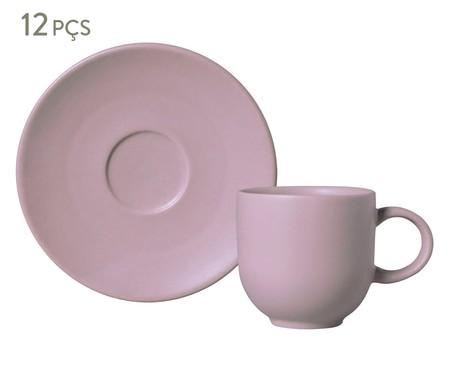 Jogo de Xícaras para Café em Cerâmica Coup Mahogany 06 Pessoas - Marrom | WestwingNow
