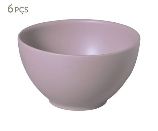 Jogo de Bowls em Cerâmica Coup Mahogany 06 Pessoas - Marrom, Marrom | WestwingNow